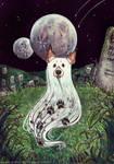 Leo the friendly ghost by Aya-Lunar