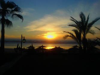 Sunset in Agadir Beach by 4ChaMZ