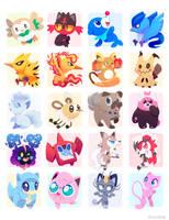 Poke Stickers 02 by ChocoChaoFun