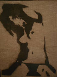 raven riley stencil by Shinigami-616