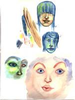 Watercolor Sketch by Oghir