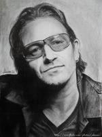 Bono U2 portrait by Bansheeek
