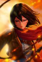 Mikasa by gabrielleandhita