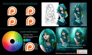 Sailor Neptune Tips  Tutorial Patreon Sneak Peek by gabrielleandhita