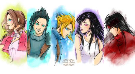 Final Fantasy 7 Series by gabrielleandhita