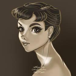 Audrey Hepburn by gabrielleandhita