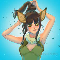 Female Deer Human by gabrielleandhita