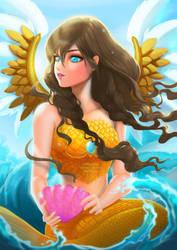 Angelic mermaid by gabrielleandhita