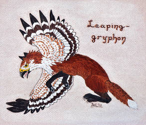 GGAX February 2012 - Leaping-gryphon by Bal-burd