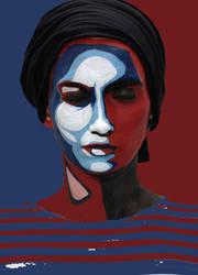 Obama Hope style Body art by rusinovamila