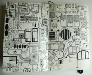 My sketchbook #20 Find cat by rusinovamila