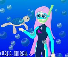 Scubba EQG Fluttershy by Cyber-murph