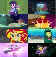 Equestria Girls and Spongebob Movie Comparison. by brandonale