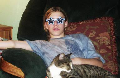 My cuz and my cat by JayJayWolf