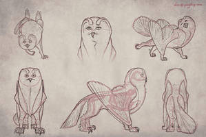 Owlf - Quadruped Model Sheet by PSYSpace
