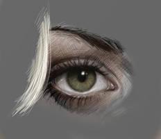 Kaley Cuoco's Eye by JuliaFox90