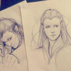 Tauriel Sketch by JuliaFox90