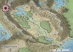 Daggervale Regional Map by Araknophobia
