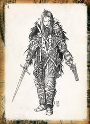 Liryanna, Raven Enclave Executioner by Araknophobia