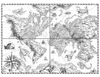 World Map for Chronica: Age of Exploration by Araknophobia