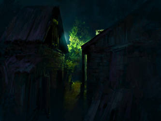 Night in a Russian village by Andrei-Pervukhin