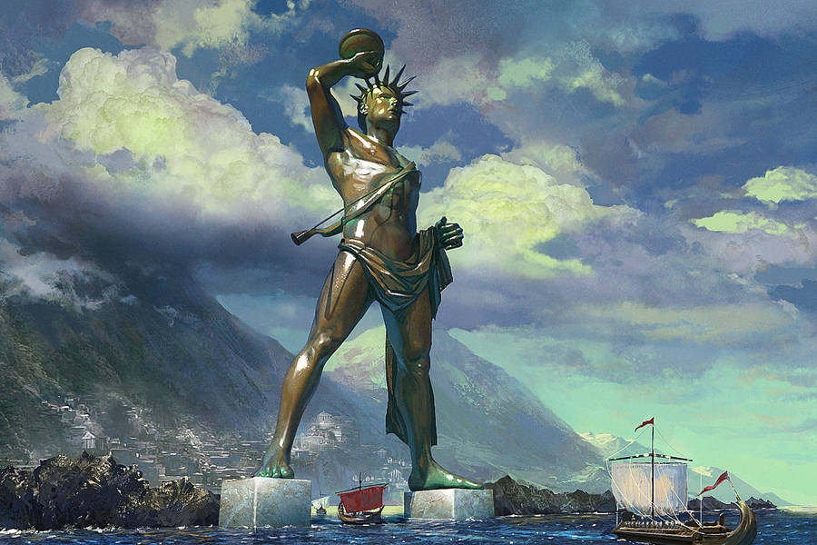 Colossus of Rhodes by Andrei-Pervukhin