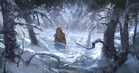 The walking bear by Andrei-Pervukhin