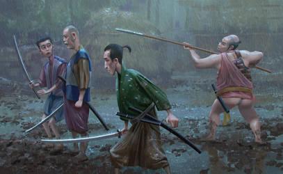 Shichinin no samurai by Andrei-Pervukhin