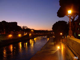 Tramonto sul LungoTevere by DraconianHell