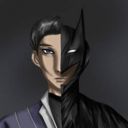 Batman and Bruce Wayne by ValarrD