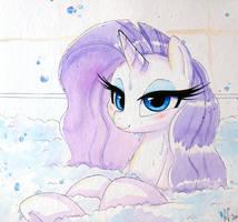 Rarity's Bath by PrettyPinkP0ny