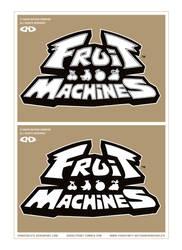 FRUIT MACHINES - Logo - Black and White - WIP by DoNotDelete