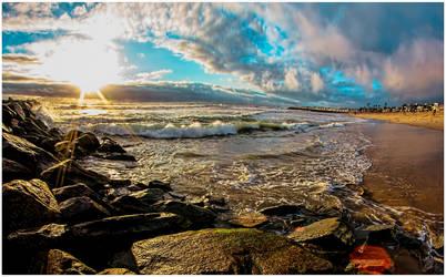 Newport beach sunset by KBgraphix