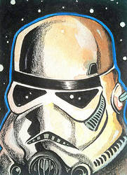Stormtrooper - Star Wars Sketch Card Day 9 by S-Louis-King