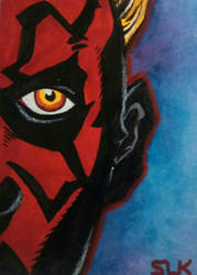 Darth Maul - Star Wars Sketch Card Day 10 by S-Louis-King