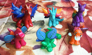 Group Shot of My Family of ECE Dragons by TigrisTheLynx