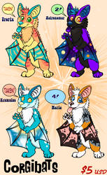Corgibat Adopts - Wave #2 by TigrisTheLynx