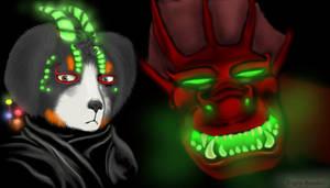 Glowy Rodney and Dragon by TigrisTheLynx