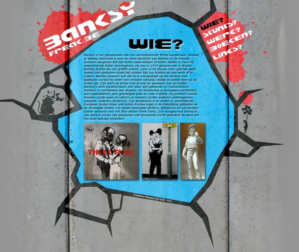 Sitedesign Banksyfreak by VectoriusTanne