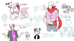 old (gay) doodles by BlaziePanda