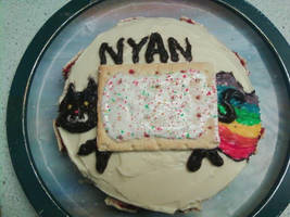 NYAN cat cake by nerdymoosechild
