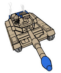 Command and Conquer General Crusader Tank by ilageater