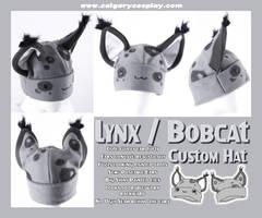Grey Bobcat Lynx Hat by KayPikeFashion