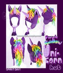 Spirit Day Purple Unicorn Hat by KayPikeFashion