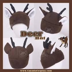 Little Brown Deer Hat by KayPikeFashion