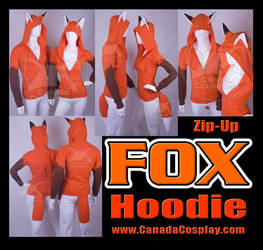 Zip Fox Hoodie Kitsune Cosplay by KayPikeFashion