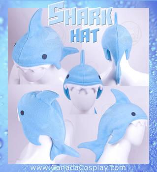 Blue Shark Hat by KayPikeFashion
