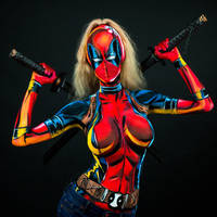 Lady Deadpool Bodypaint by KayPikeFashion