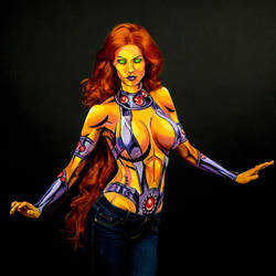 Starfire Bodypaint by KayPikeFashion