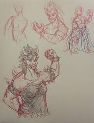 Bowsette (also called Bandwagon jumping!) by whitefennec